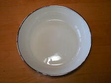 Flintridge USA Bon Lite Ivory Platinum MIRADOR Round Serving Vegetable Bowl 8 3/