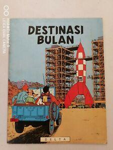 1978 Destinasi Bulan Destination Moon Malay Tintin comics Asian Malaysia Delta