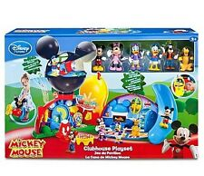 Disney Store Deluxe Mickey Mouse Clubhouse Play Set Toy 6 Figure Lights Sounds