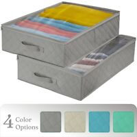 2-Pack Storage Bag Organizer Set - Clothes Storage for Closets- Underbed Storage