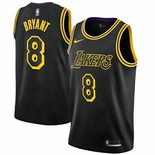 016a0ab39bb NWT MEN S NIKE KOBE BRYANT LA LAKERS SWINGMAN BLACK CITY EDITION 8 JERSEY  XXL