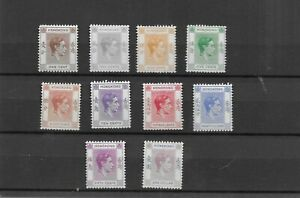 Hong Kong 1938/52 Small group of values to $1  Mounted mint