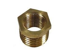 1/4 Inch x 1/8 Inch BSP Brass Hex Reducing Bush | British Standard Pipe Thread