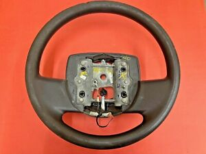 2005-2011 FORD CROWN VICTORIA CHARCOAL BLACK STEERING WHEEL NO CRUISE FOAM USED