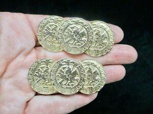 Vintage-Faux Coin Gold Tone Shoe Clip (2)