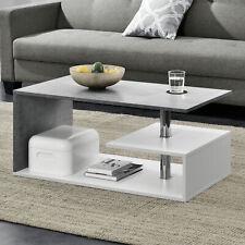Couchtisch Weiß/Beton Tisch Beistelltisch Wohnzimmertisch Sofatisch
