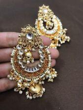New Indian Rajasthani Pakistani HandPainted Meenakari Jadau Kundan Jhumki Jhumka