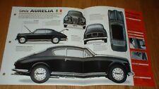 1954 LANCIA AURELIA B20 GT ORIGINAL IMP BROCHURE SPECS INFO 51 52 53 54 55 56-58