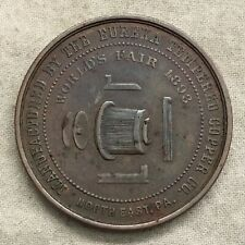 World's Columbian Exposition, Eureka Tempered Copper John Scott Medal Eglit 22