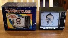 "VINTAGE TOM PETERSON'S ""WAKE UP"" ALARM CLOCK~Original Box~Batteries Included"