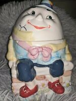 Vintage Humpty Dumpty on wall Cookie Jar  BICO-CHINA Very Collectible!!!
