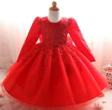 Babykleid Rot Tütü Festkleid  Geburtstagskleid Blumenmädchen Partykleid 3-6 Mon.