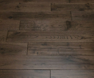 Solid Wood Flooring Oak Coffee Handscraped, 2.16m² Pack