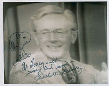 """CHARLES SCHULZ SIGNED AUTOGRAPHED PHOTO WITH """"SNOOPY"""" SKETCH"""