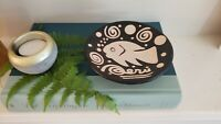 Chulucanas Peru Pottery Bowl Fish Black and White Hand Painted Ceramic