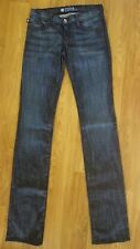 Rock & Republic STELLA BLUE Kiedis Straight Leg Drk/Wash Red Stitch Long Sz 25