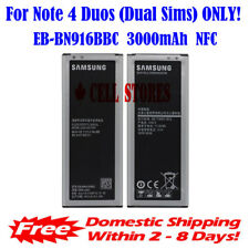 Original OEM Samsung Galaxy Note 4 Duos Battery + NFC N9106 EB-BN916BBC 3000mAh