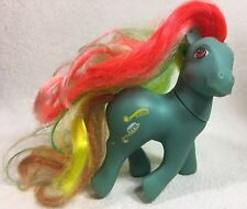 Vintage My Little Pony Twisty Tail Brush and Go 1987 G1 Hong Kong Blue Rainbow