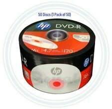 50 HP DVD DVD-R Logo Branded Disc 16X Blank media 4.7GB/120Min Disc