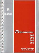 Camion renault premium Manuel 1996 Manuel 260 300 340 380 carnet BA
