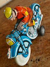 VNTG. MOTORCYCLE BIKER FOREIGN TIN FRICTION TOY LEMEZARU GYAR FLIM LEMEZ HUNGARY
