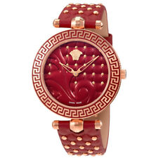 Versace Vanitas Rose Gold-tone Case Red Enamel Dial Ladies Watch VK7750017