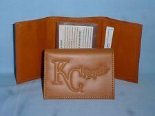 KANSAS CITY ROYALS   Leather TriFold Wallet   NEW!   tan  bb