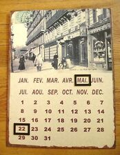 French Shabby Country Cottage Chic Hanging Metal Magnet Paris Perpetual Calendar