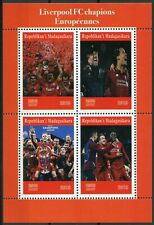 Madagascar 2019 MNH Liverpool FC Champions League 4v M/S Football Sports Stamps