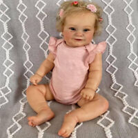 20in Reborn Baby Doll Maddie Cute Girl Doll Rooted Blonde Hair Soft Cuddle Body