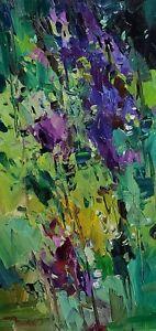 JOSE TRUJILLO Oil Painting IMPRESSIONISM GARDEN FLOWERS FLORAL ARTWORK NR SIGNED