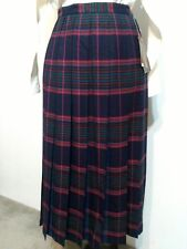 Geoff Riddell vintage Pure New Wool fully pleated skirt, size 12, NWT
