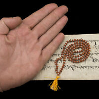 Mala Collana Perle Semi Da Rudraksha Sacra Molto Rara 4 MM Nepal 26012
