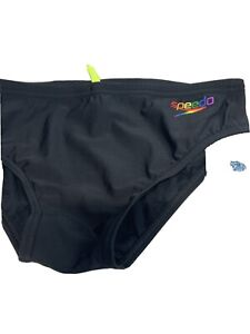 Speedo Swim Briefs Speedo Rainbow  Mens 34 Made in NEW