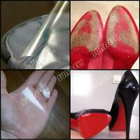 """Clear Film Protector For Red Bottom High Heels Any Designer Shoes 12"""" x 6"""""""