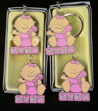 12 Baby Shower Favors Key Chains Girl,Pink,Llaveros,Gift, Baby girl,Party,Niña