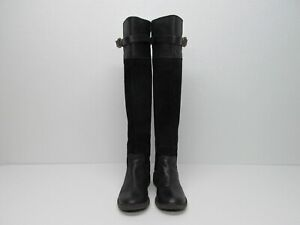 Lucky Brand Nivo Black Suede Leather Over The Knee Boots Size Women's 8/38