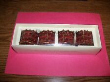 Pier 1 Moroccan Beaded Napkin Rings (Set of 4) Brown, Bronze, Red