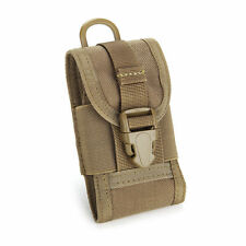 "Tactical MOLLE Cordura Mobile Cell Phone 5"" Smartphone Belt Pouch Bag #Khaki"