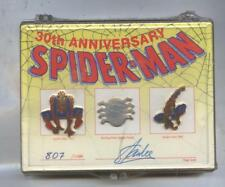 Amazing Spiderman 30th Anniversay Pin Set Signed By Stan lee ltd to 1,500 SEALED