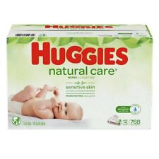 Huggies Natural Care Scented Baby Wipes Soft Pack 12 X 768ct - Disposable