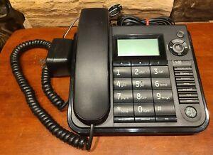GE Telephone THOMSON INC. CORDED BLACK CALLER ID MODEL NO. 29582FE1-A Working