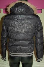 BLOUSON Doudoune TEDDY  noir brillant REDSKINS 36/38 BRODERIES Brodé XS/1 veste