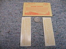 """Champ decals HO Alphabet Numbers L-59 Globe Extended dulux gold 1/8""""  H67"""