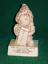"""Vintage 1969 Paula """"Cake Good For You But Sex Fewer Cavities"""" Statue Figurine"""