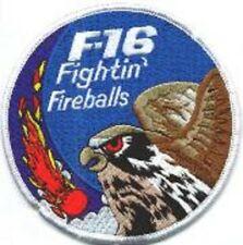 FIGHTING FALCON F-16 JET FIGHTER SWIRL PATCH COLLECTIONS: FireBall Fighter Sqn