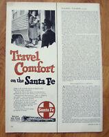 1950 Santa Fe Railroad Ad Travel Comfort