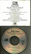 AALIYAH The One I gave My Heart to w/ RARE RADIO MIX 1996 USA PROMO DJ CD Single