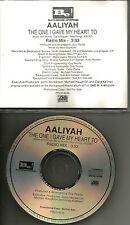 AALIYAH The One I gave My Heart to w/ RARE RADIO MIX 1996 USA PROMO DJ CD Single