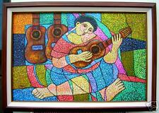 Musician by Pelayo 24x36 Art Philippines Oil Painting
